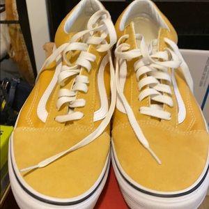 Men's yellow low vans skater Sneakers
